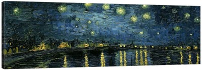 Starry Night Over The Rhone Canvas Print #1322PAN