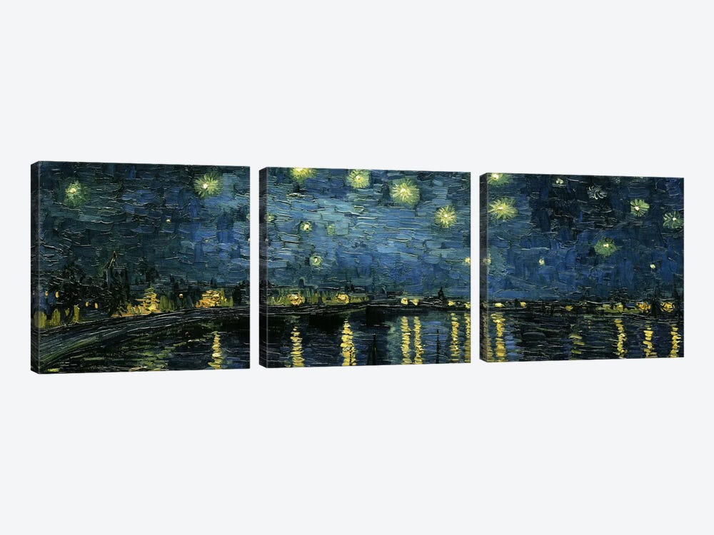 Starry Night Over The Rhone by Vincent van Gogh 3-piece Canvas Art