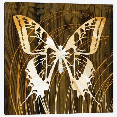 Butterflies & Leaves I Canvas Print #13265} by Erin Clark Canvas Art Print