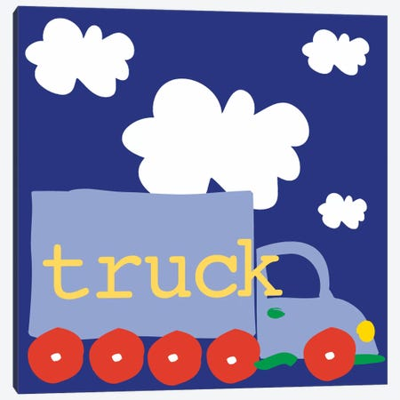 Blue Truck Canvas Print #13271} by Erin Clark Canvas Art Print