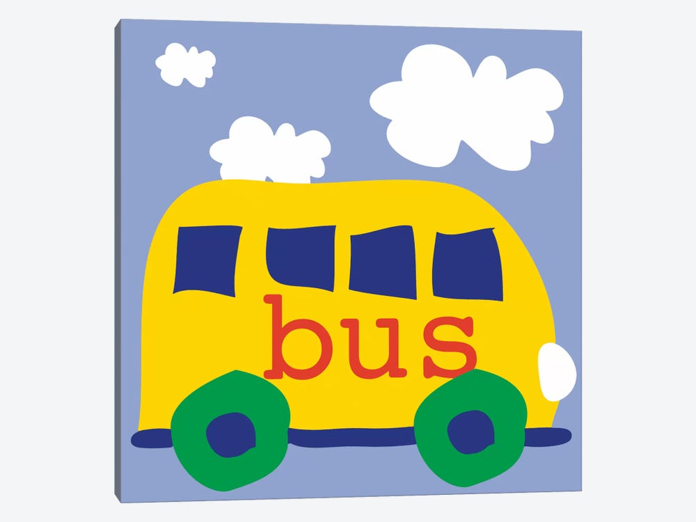 Yellow School Bus 1-piece Canvas Print