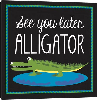 Alligator by Erin Clark Canvas Artwork