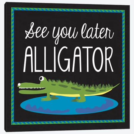 Alligator 3-Piece Canvas #13277} by Erin Clark Canvas Artwork
