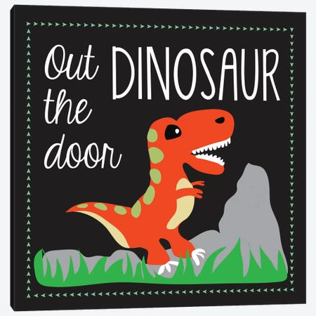 Dinosaur Canvas Print #13280} by Erin Clark Canvas Wall Art