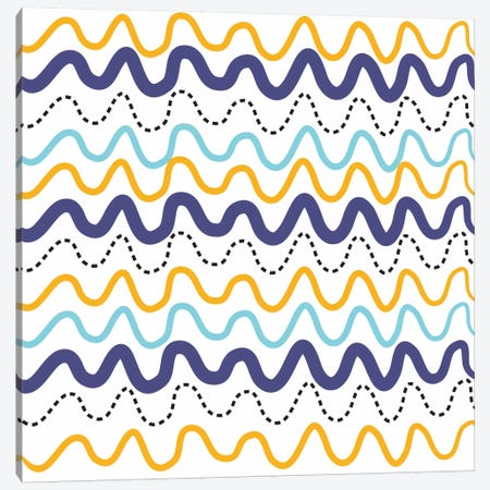 Wavy Lines Canvas Print #13282} by Erin Clark Canvas Artwork