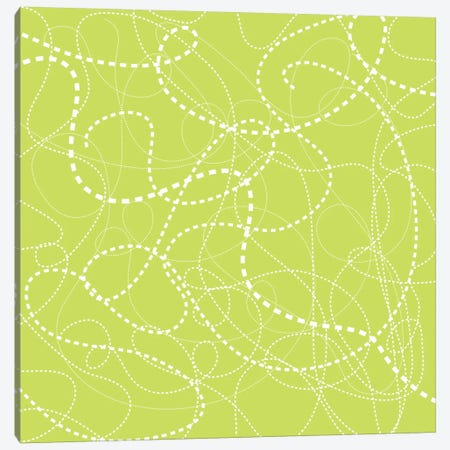 Dashes Of Green Canvas Print #13289} by Erin Clark Canvas Artwork