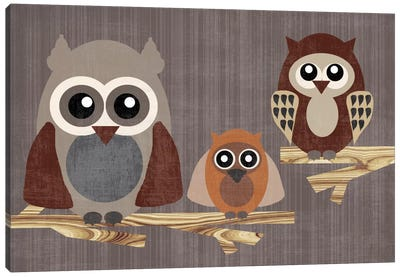 Owls Canvas Art Print
