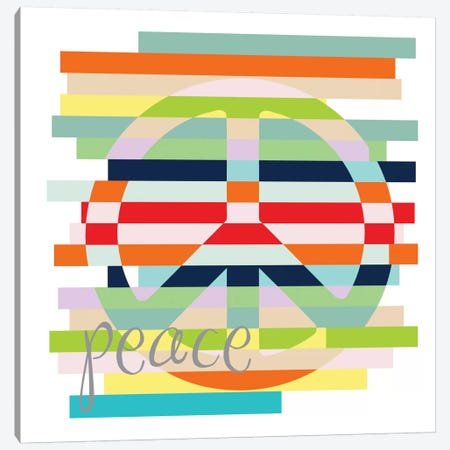 Rainbows Of Inspiration - Peace 3-Piece Canvas #13296} by Erin Clark Canvas Art
