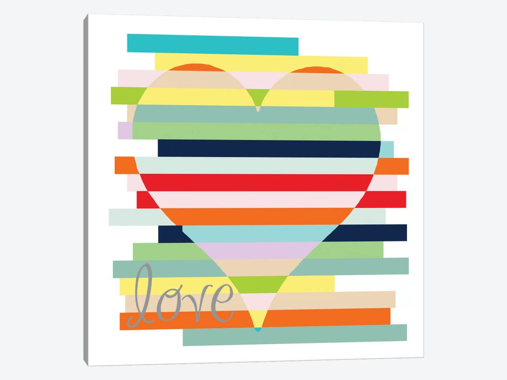 Rainbows Of Inspiration - Love by Erin Clark 1-piece Canvas Artwork