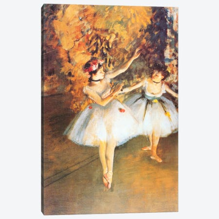 Two Dancers on Stage (alla Barra) Canvas Print #1329} by Edgar Degas Canvas Art Print
