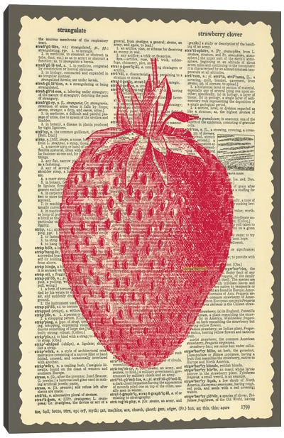 Strawberry Canvas Art Print