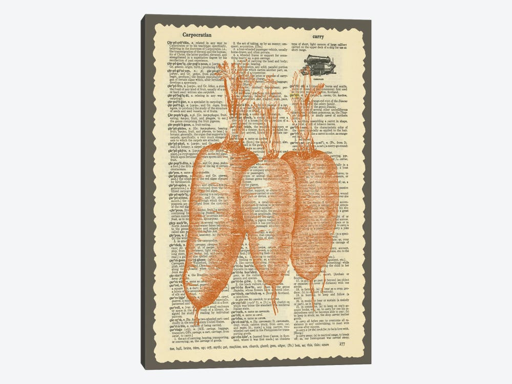 Carrots by Erin Clark 1-piece Canvas Wall Art