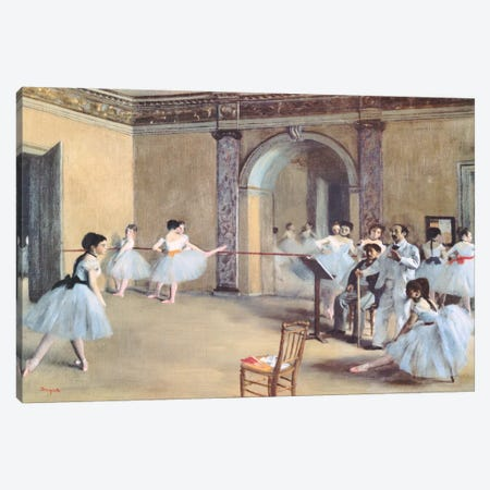 The Dance Foyer At The Opera Canvas Print #1330} by Edgar Degas Canvas Art