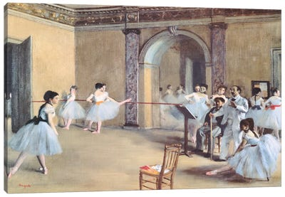 The Dance Foyer At The Opera Canvas Print #1330