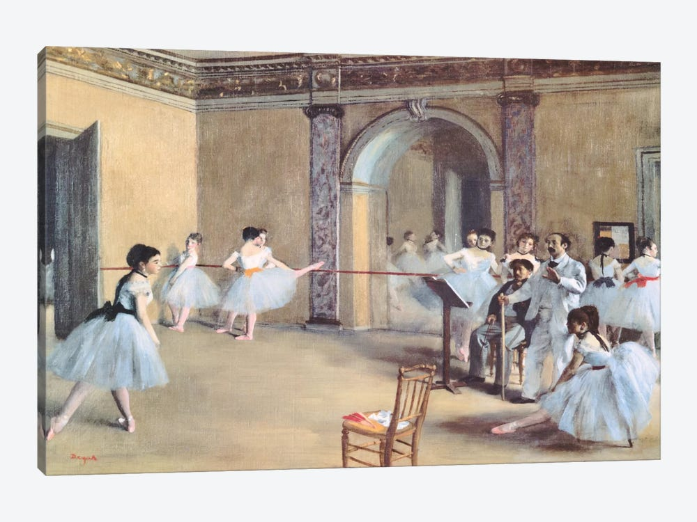The Dance Foyer At The Opera by Edgar Degas 1-piece Art Print