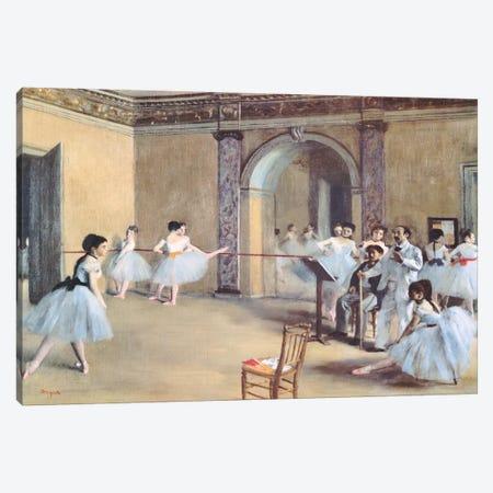 The Dance Foyer At The Opera Canvas Print #1330} by Edgar Degas Canvas Art