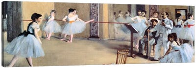 The Dance Foyer At The Opera by Edgar Degas Canvas Art