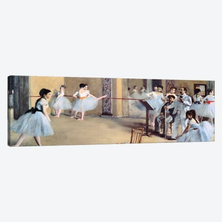 The Dance Foyer At The Opera Canvas Print #1330PAN} by Edgar Degas Canvas Art