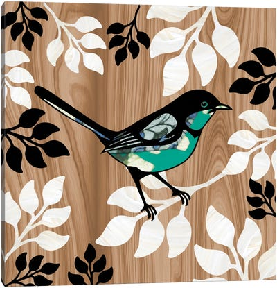 Bird Patchwork II Canvas Art Print