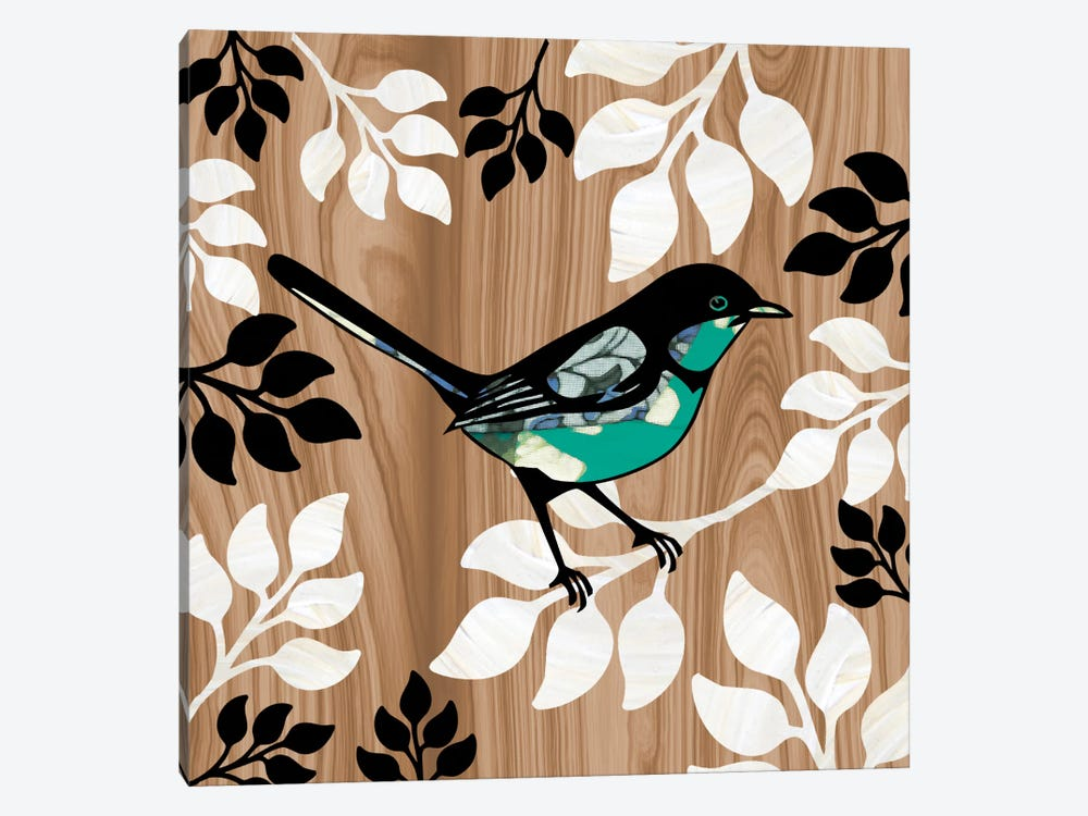 Bird Patchwork II by Erin Clark 1-piece Canvas Art Print
