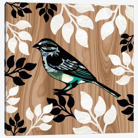 Bird Patchwork I Canvas Print #13313} by Erin Clark Canvas Wall Art