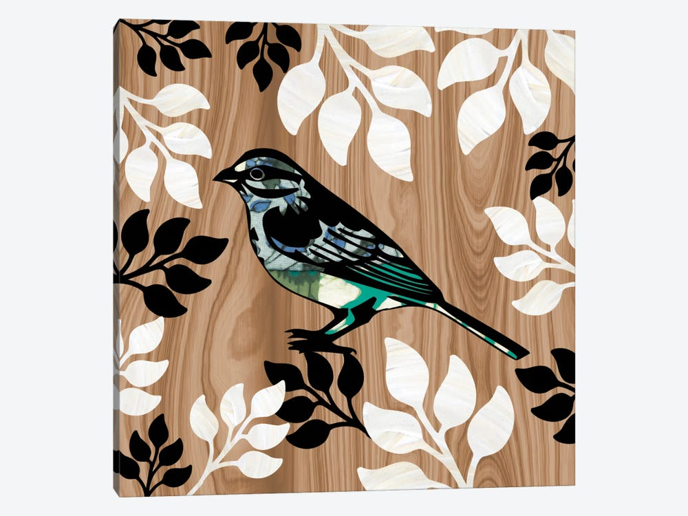 Bird Patchwork I by Erin Clark 1-piece Canvas Wall Art