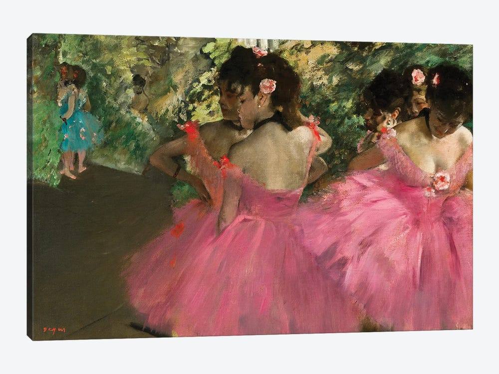 Ballerina In Red by Edgar Degas 1-piece Canvas Artwork