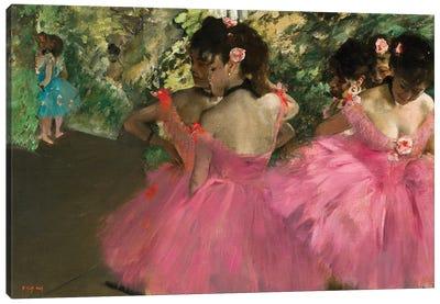 Ballerina In Red Canvas Art Print