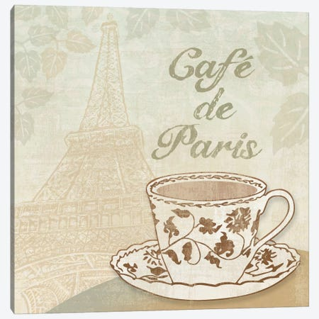 Cafe de Paris Canvas Print #13326} by Erin Clark Canvas Artwork