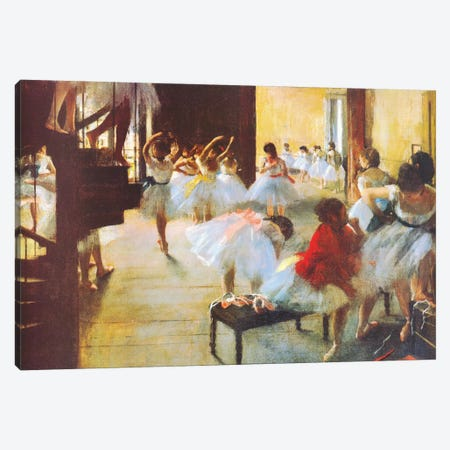 Ecole De Danse (Dance School) Canvas Print #1332} by Edgar Degas Canvas Art