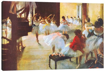 Ecole De Danse (dance School) by Edgar Degas Canvas Art