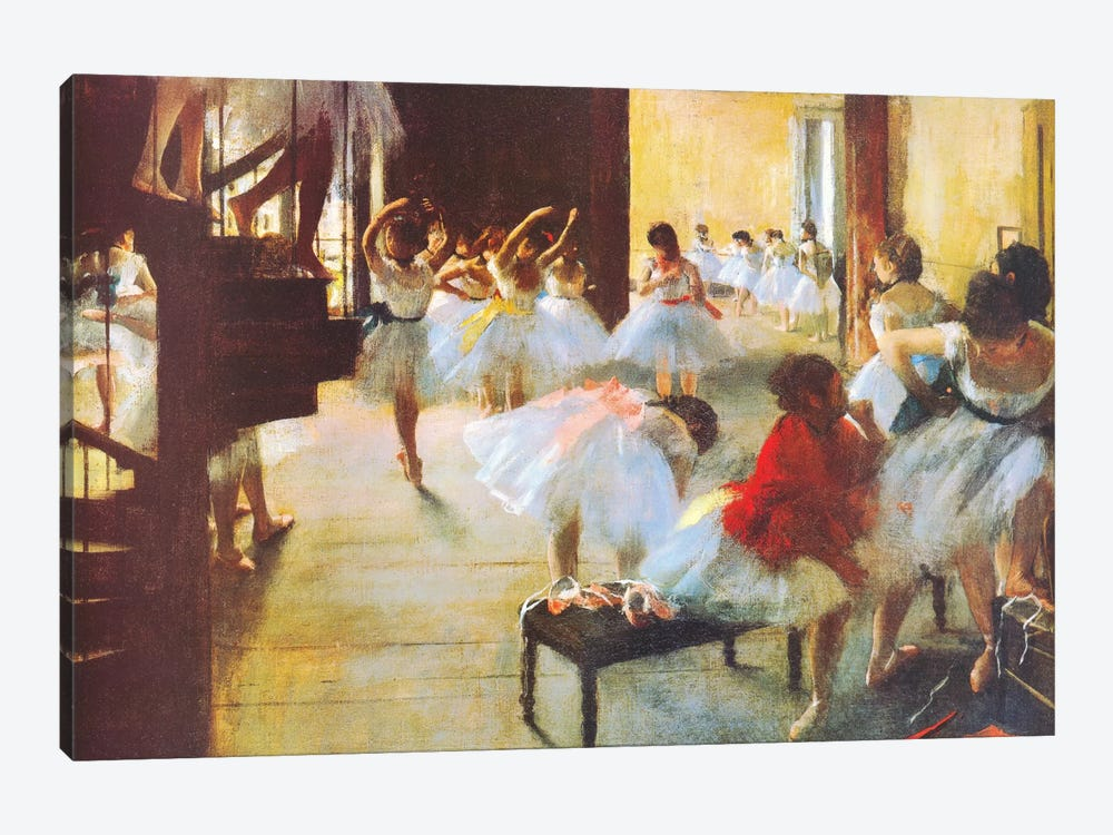 Ecole De Danse (Dance School) by Edgar Degas 1-piece Canvas Art Print