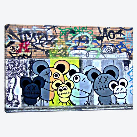 Of Mostly Mice Graffiti Canvas Print #13333} by Unknown Artist Canvas Art