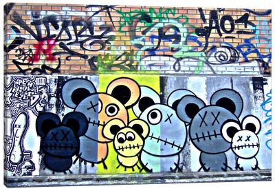 Of Mostly Mice Graffiti Canvas Art Print