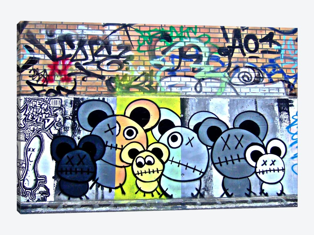 Of Mostly Mice Graffiti by Unknown Artist 1-piece Canvas Art
