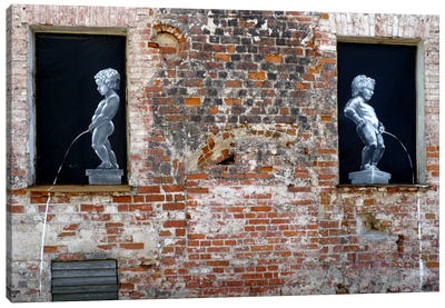 Twins Graffiti Canvas Print #13353