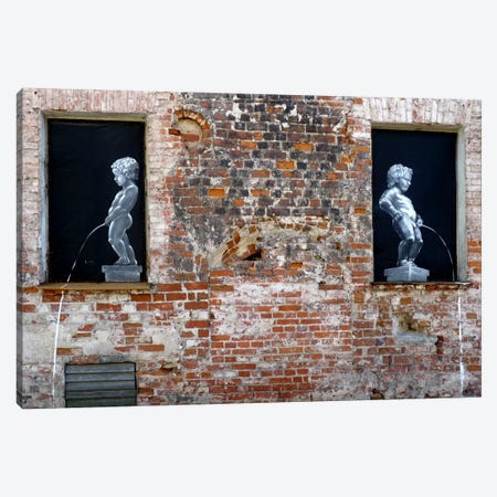 Twins Graffiti Canvas Print #13353} by Unknown Artist Canvas Artwork