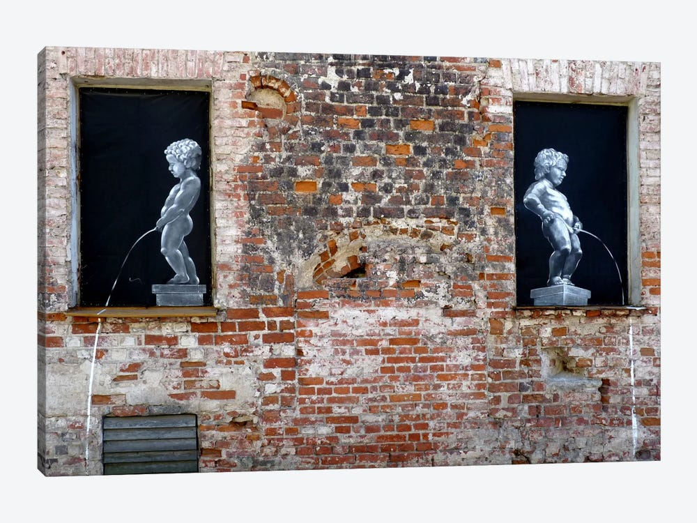 Twins Graffiti by Unknown Artist 1-piece Canvas Art