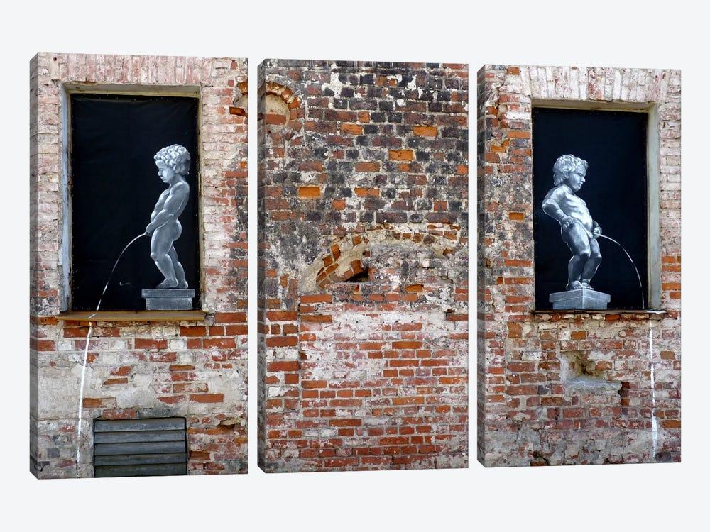 Twins Graffiti by Unknown Artist 3-piece Canvas Art