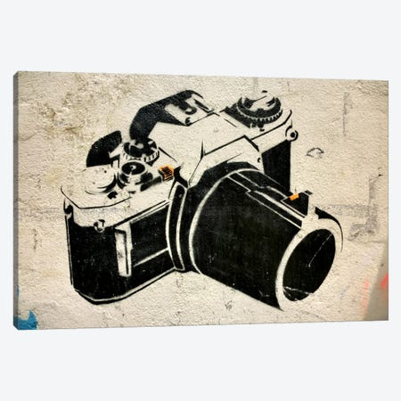 Camera Graffiti Canvas Print #13354} by Unknown Artist Canvas Art Print