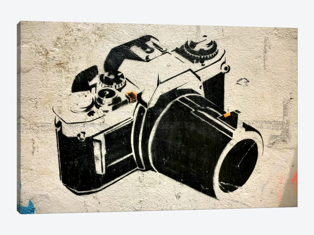 Camera Graffiti 1-piece Art Print