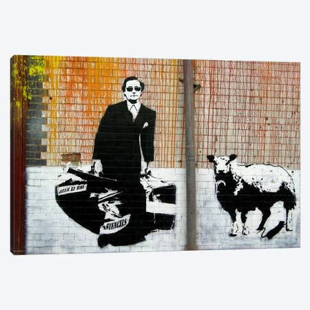 Blek Le Rat Graffiti Canvas Print #13357} Canvas Art Print