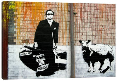 Blek Le Rat Graffiti Canvas Art Print