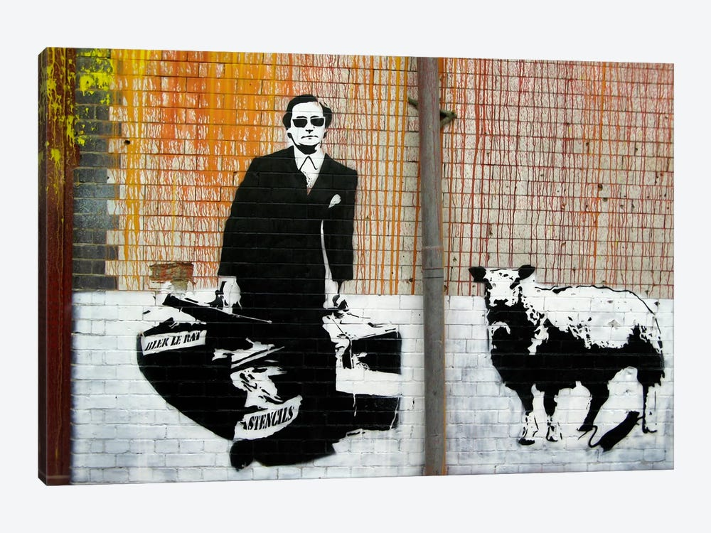 Blek Le Rat Graffiti 1-piece Canvas Wall Art