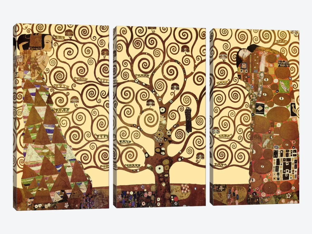 The Tree of Life by Gustav Klimt 3-piece Canvas Artwork