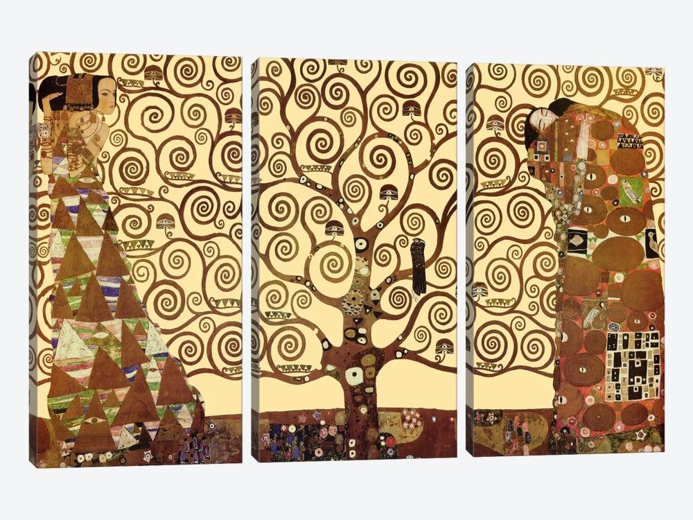 The Tree of Life by Gustav Klimt 3-piece Canvas Artwork