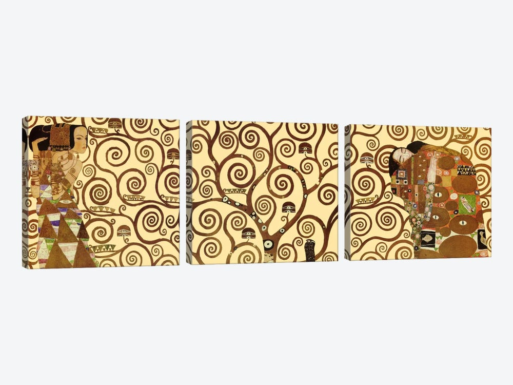 The Tree of Life by Gustav Klimt 3-piece Canvas Wall Art