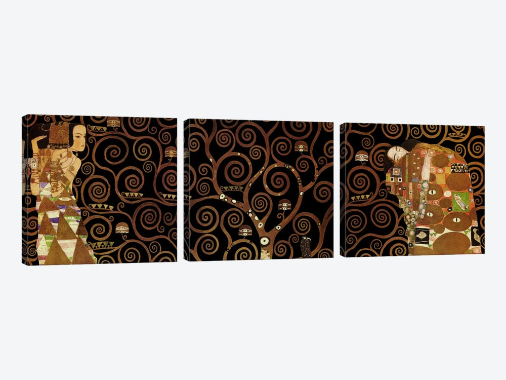 The Tree of Life II by Gustav Klimt 3-piece Canvas Print