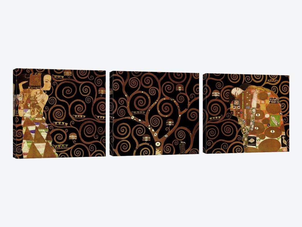 The Tree of Life II by Gustav Klimt 3-piece Canvas Print