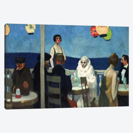 Soir Bleu Canvas Print #13366} by Edward Hopper Canvas Art